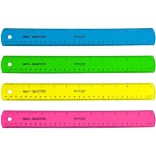 "Shatterproof Ruler 12""-Assorted Colors"