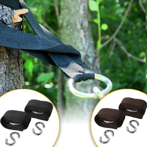 Sunnydaze Heavy Duty Hammock Tree Straps Durable Eco Friendly - Color Options