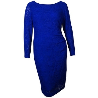 Lauren Ralph Lauren Women's Lace Overlay Dress - 14W