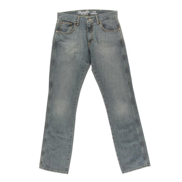 e386c4890f2 Shop Wrangler Mens Straight Leg Jeans Slim Fit Rocky Top - Free Shipping On  Orders Over  45 - Overstock - 13980557
