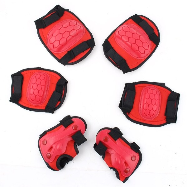 6 in 1 Kids Palm Wrist Guard Elbow Knee Safety Protector Pad Set Gear