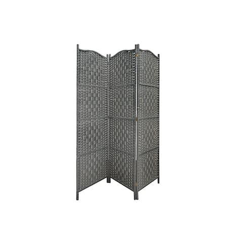 3 Panel Woven Bamboo Screen (rowan)