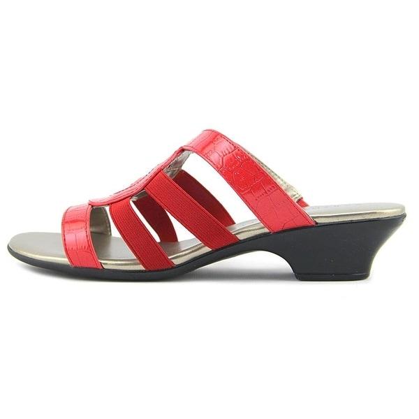 Karen Scott Womens EMMA Fabric Open Toe Casual Mule Sandals - 7.5