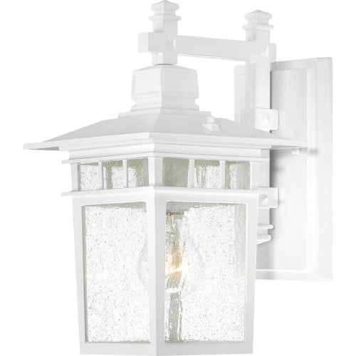 Nuvo Lighting 60/4951 Cove Neck Single-Light Wall Lantern with Clear Seed Glass Panels