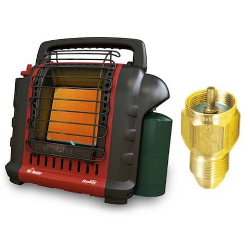 """Mr. Heater Portable """"Buddy"""" Heater with Propane Tank Refill Adapter"""