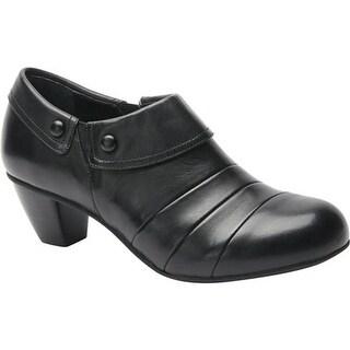 Drew Women's Ashton Heel Black Leather