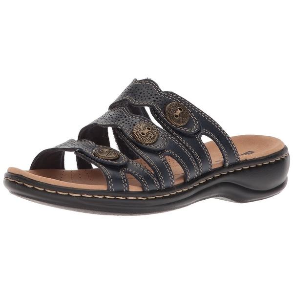 2f12734b4737 Shop CLARKS Womens Leisa Grace Leather Open Toe Casual Slide Sandals ...