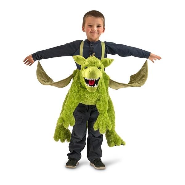 Kids Green Dragon Ride-In Halloween Costume size Standard