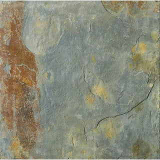 "Emser Tile S05SL781616CAL  Slate - 15-3/4"" x 15-3/4"" Square Floor and Wall Tile - Textured Slate Visual - Earth"