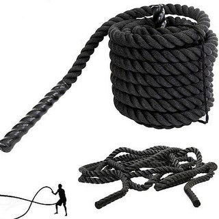 Link to 1.5 Inch Heavy Battle Exercise Training Rope 30ft/40ft Length for Strength Training Home Gym Outdoor Cardio Workout Similar Items in Fitness & Exercise Equipment