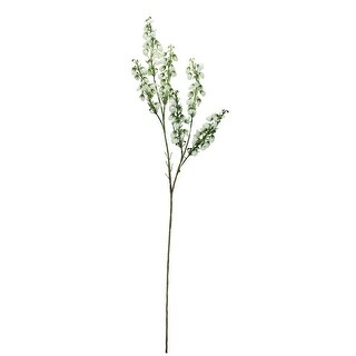 "27"" White Artificial Baby Blossom Inspired Floral Spray - Green"