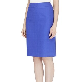 Tahari By ASL NEW Purple Women Size 10P Petite Basketweave Pencil Skirt