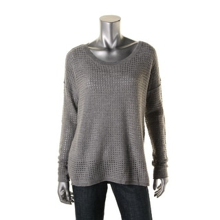 Private Label Womens Cashmere Open Stitch Crewneck Sweater