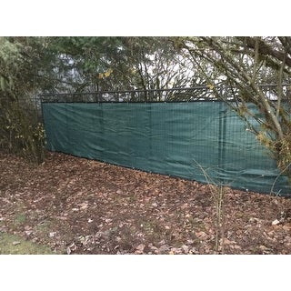 ALEKO 5'x50' Fence Privacy Green Windscreen Mesh Fabric with Grommets