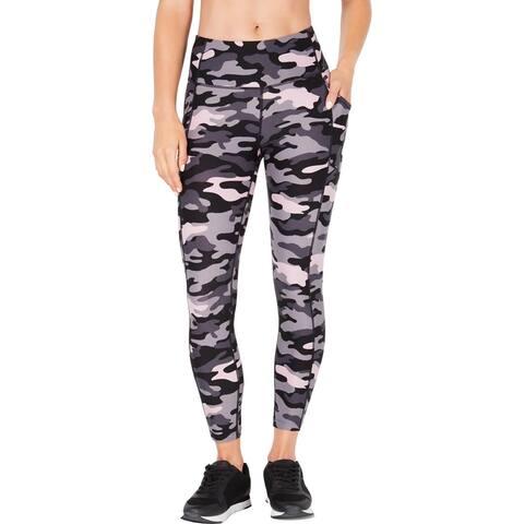 Calvin Klein Performance Womens Athletic Leggings Fitness Yoga - Pink Multi