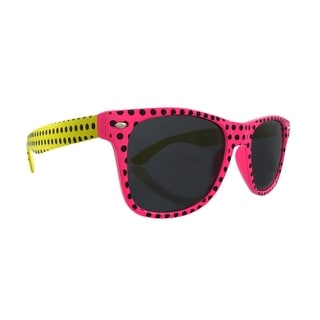 Polka Dot Retro 80`s Style Sunglasses