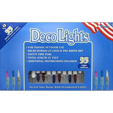Darice Light Set 35ct Red/White/Blue - Blue