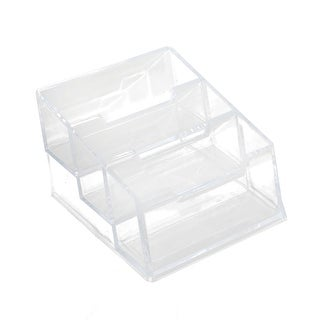 Company Office Plastic 3 Slots Business Name Card Holder Display Stand