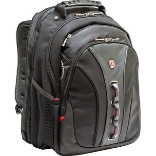 SwissGear WA-7329-14F00 Swissgear Legacy Backpack. Fits up to 15.6in Laptop, Black, Checkpoint Friendly - Polyester, Vinyl