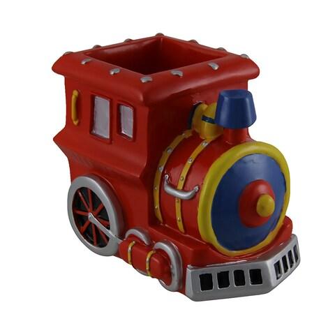 Bright Red Train Engine Pencil/Pen Holder