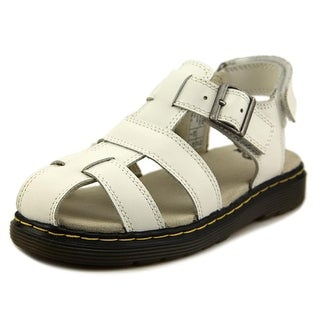 Dr. Martens Air Wair Sailor Youth Round Toe Patent Leather Fisherman Sandal