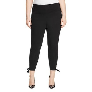 Lysse Womens Plus Leggings Cotton Ankle Tie