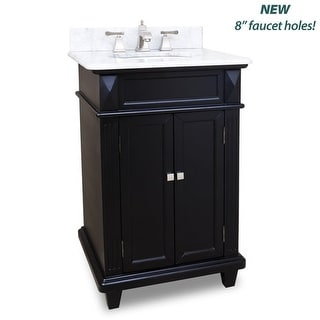 "Elements VAN057-T-MW Douglas Collection 24"" Inch Bathroom Vanity Cabinet with Co"