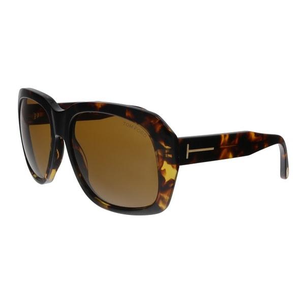 2cbfe34b0e Shop Tom Ford FT0635 52E Andre-02 Havana Square Sunglasses - No Size ...