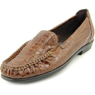 SAS Joy Women Square Toe Patent Leather Brown Loafer