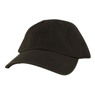 959 Series Curve Visor Cotton Unstructured Vintage Frayed Strapback Hat Cap - Army Green - Dark Green