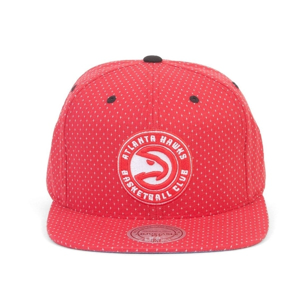 06cc07452d9 Shop Mitchell   Ness Atlanta Hawks Dotted Cotton Hat - Free Shipping ...