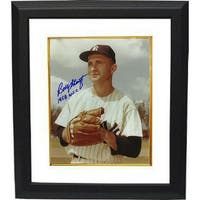 Bobby Shantz signed New York Yankees 8x10 Photo Custom Framed 1958 WSC World Series Champs  close u