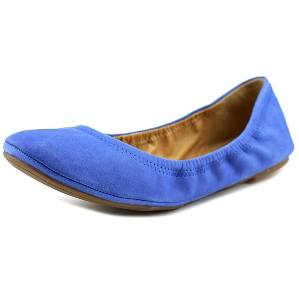 Lucky Brand Emmie 2 Women Round Toe Leather Blue Ballet Flats