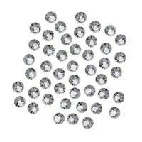Swarovski Crystal, Round Flatback Rhinestone SS16 3.8mm, 50 Pieces, Black Diamond