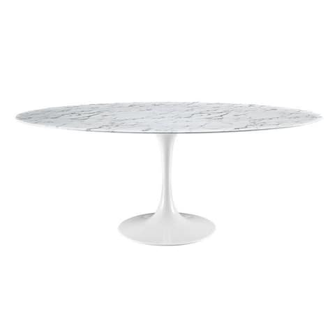 """Tulip Oval Marble Dinning Table 79"""""""