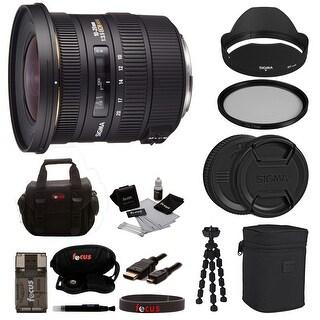 Sigma 10-20mm f/3.5 EX DC HSM Lens For Canon Cameras Accessory Bundle