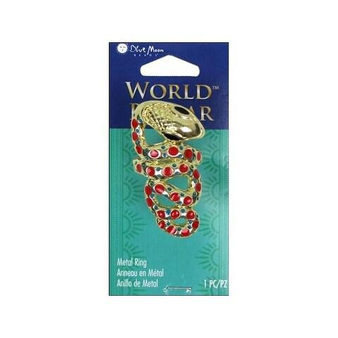 BMB World Bazaar Ring Metal Snake Spot Gold
