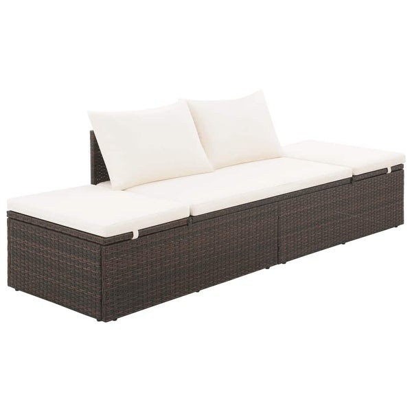 "vidaXL Garden Bed Brown 76.8""x23.6"" Poly Rattan - 76.8"" x 23.6"" x 23.6"""