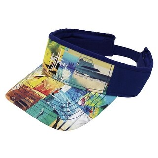 Guy Harvey Mens Patchworx Visor One Size Blue