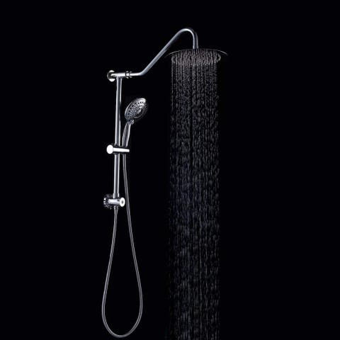 Stainless Steel Chrome Finish Shower Head Dual Shower Combo