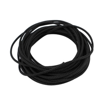 2mm Dia Tight Braided PET Expandable Sleeving Cable Wire Wrap Sheath Black 5M
