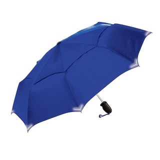 The Indestructible Umbrella Royal Blue Folding Model Straight Handle Defense