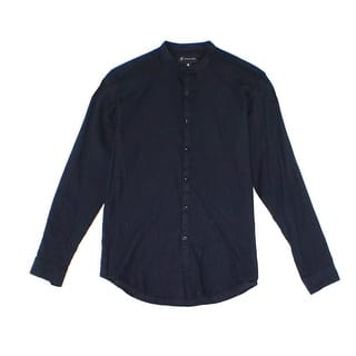 INC NEW Deep Black Metallic Men Size 2XL Button Down Banded-Collar Shirt|https://ak1.ostkcdn.com/images/products/is/images/direct/88dacce6c07f1e1fdf3cd5afeaf44c56b6caae0d/INC-NEW-Deep-Black-Metallic-Men-Size-2XL-Button-Down-Banded-Collar-Shirt.jpg?impolicy=medium