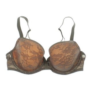 Wacoal Womens Lace Overlay Lined Demi Bra