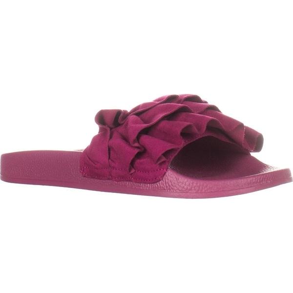 Fergalicious Flutter Flat Slide Sandals, Sweetberry