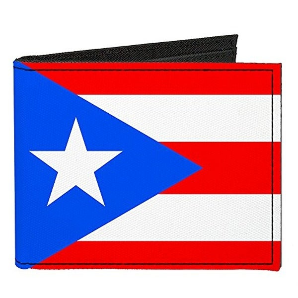 Buckle-Down Canvas Bi-fold Wallet - Puerto Rico Flag Accessory