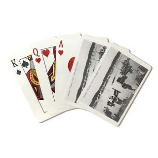 Harvard vs. Yale Rowing Crew Race - Vintage Photograph (Playing Card Deck - 52 Card Poker Size with Jokers)