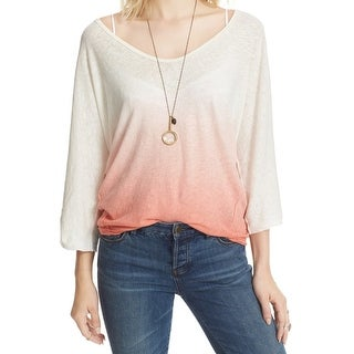 Free People Deep Womens Small Ombre Sheer Knit Top