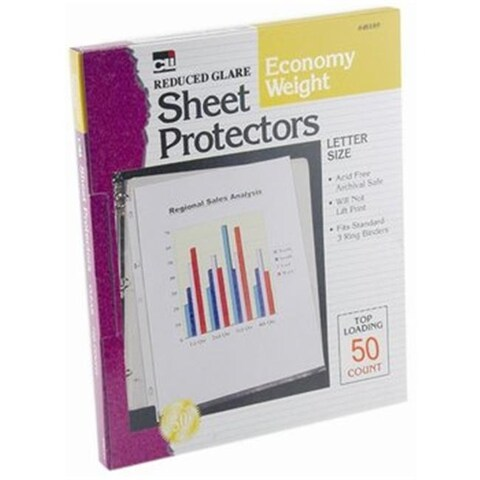 Charles Leonard Sheet Protectors Economy Weight, Reduced