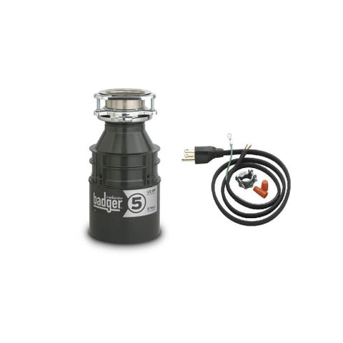 InSinkErator Badger 5 Badger 1/2 HP Garbage Disposal with Soundseal Technology - N/A